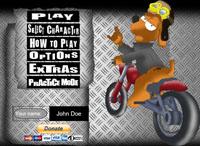 Пес на мотоцикле